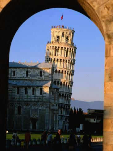 Leaning Tower Framed by Arch, Pisa, Tuscany, Italy Photographic Print