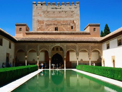 Patio de Los Arrayanes in Palacio Nazaries in Alhambra, Granada, Andalucia, Spain Photographic Print