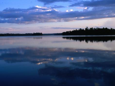 Sunset on Lake Itasca, Itasca State Park, USA Photographic Print