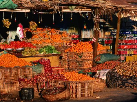 Vegetable and Fruit Stand, Sharm El-Sheikh, Egypt Photographic Print