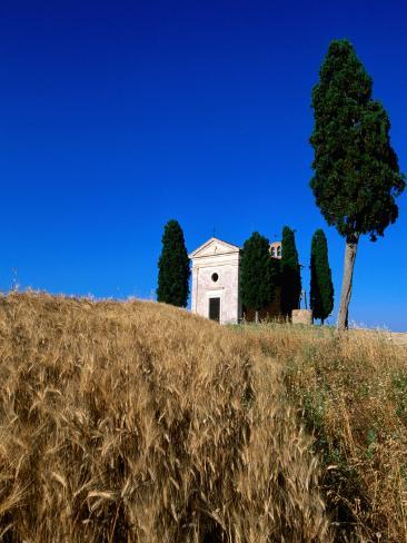 Vitaleta Chapel, So of Pienza, Val d'Orcia, Tuscany, Italy Photographic Print