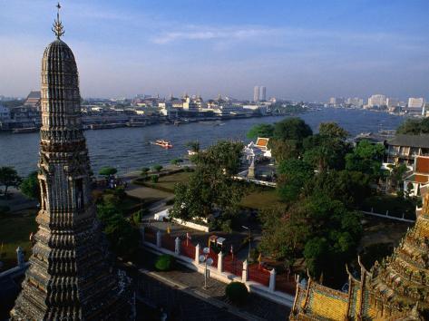 Wat Arun Stupa, Bangkok, Thailand Photographic Print