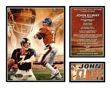 John Elway - NFL Hall Of Fame Matted Print