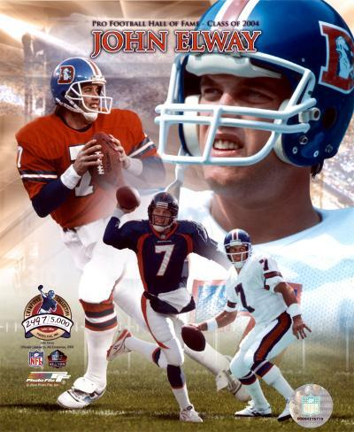 John Elway - Pro Football Hall Of Fame Class of 2004, PF Gold V (Limited Edition) Photo