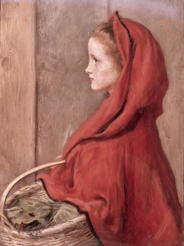 Caperucita roja ¿A quién tienes miedo? Lámina giclée