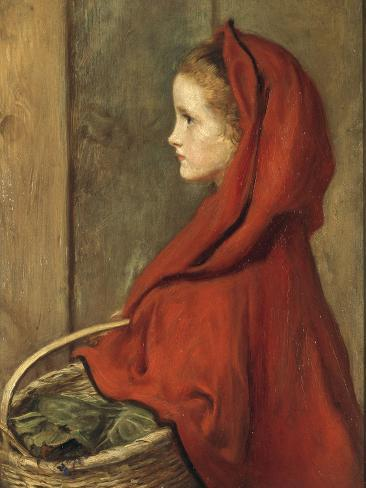 Red Riding Hood (A Portrait of Effie Millais, the artist's daughter) Lámina giclée