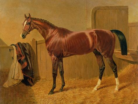 Orlando', Winner of the Derby in 1844 Lámina giclée