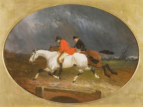 The Return from the Hunt in the Rain Giclee Print