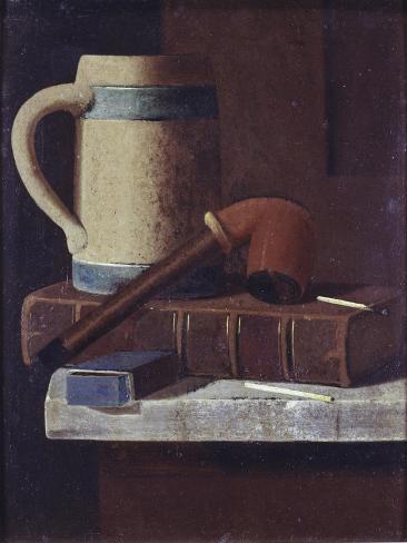 Mug, Pipe and Book Giclee Print