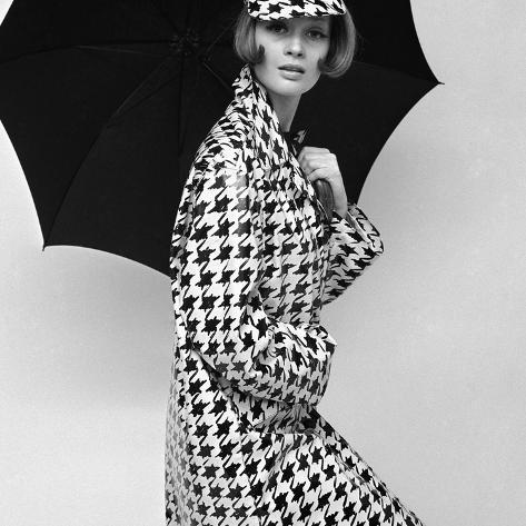 Belted Tweed Suit, Spring 1964 Giclee Print