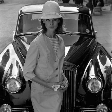 Model and Car, 1960s Giclee Print