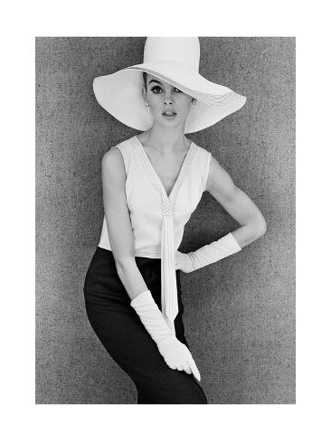 Outfit and White Hat, 1960s Giclee Print