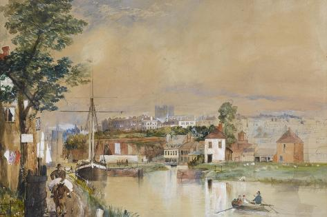 Exeter and the Canal Basin, 1835-40 Giclee Print