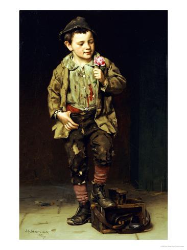 Shoeshine Boy, 1884 Giclee Print