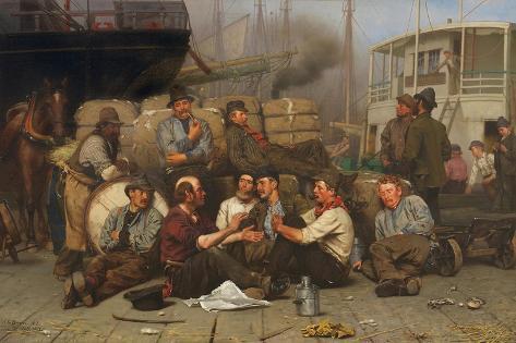 The Longshoremen's Noon, 1879 Lámina giclée