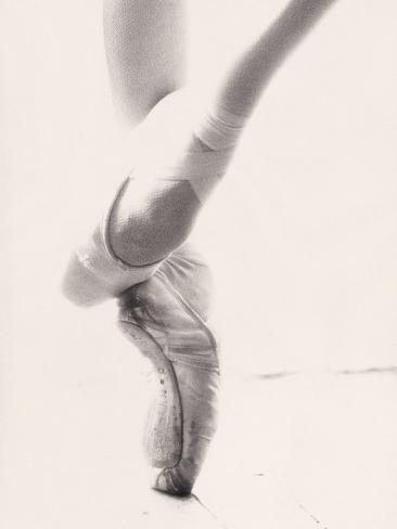 Close-up of Ballerina's Feet and Legs Photographic Print
