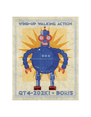 Boris Box Art Robot Giclee Print