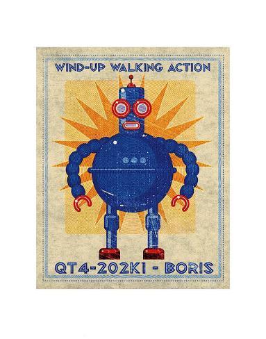 Boris Box Art Robot Art Print