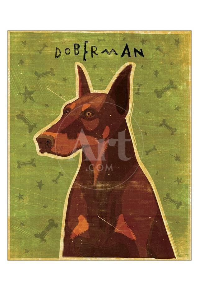 doberman red giclee print by john golden at allposters com