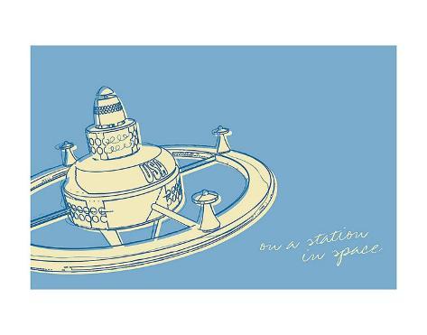 Lunastrella Space Station Art Print