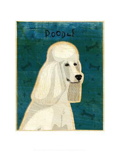Poodle (white) Art Print