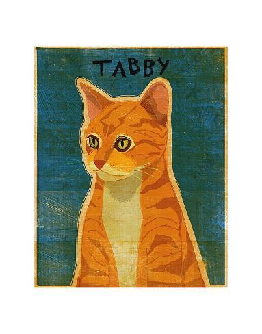 Tabby (orange) Art Print