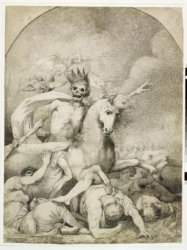 Death on a Pale Horse, C.1775 (Pen and Black Ink on Wove Paper) Lámina giclée