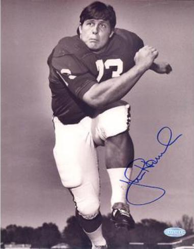John Hannah Alabama B&W Autographed Photo (Hand Signed Collectable) Photo