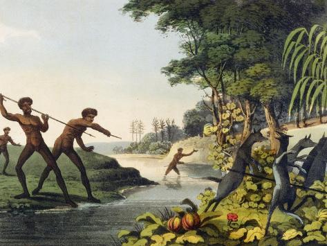 Hunting the Kangaroo, Aborigines in New South Wales Giclee Print