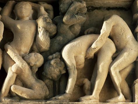 Detail from the Lakshmana Temple, Western Group, Khajuraho, Madhya Pradesh State, India Photographic Print
