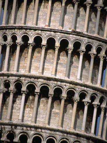 Arcades of the Leaning Tower of Pisa Photographic Print