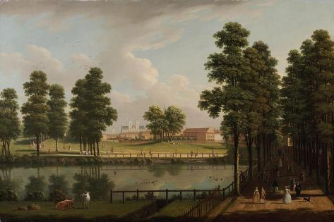 View of St. James's Park with Westminster Abbey Beyond Giclee Print