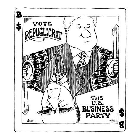 Vote Repuglicrat—The U.S. Business Party - Cartoon Premium Giclee Print