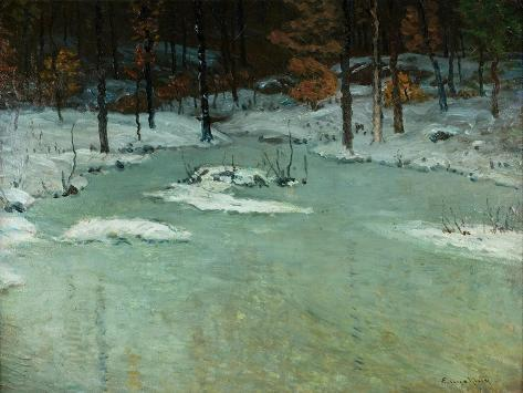 Winter Woods and Brook, c.1905 Giclee Print