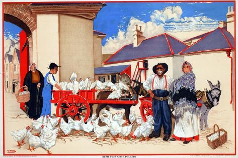 Irish Free State Poultry Giclee Print