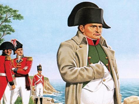Napoleon Gazing Out at the Ocean from St Helena Giclee Print
