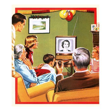 Queen Elizabeth Ii's First Christmas Tv Broadcast Giclee Print