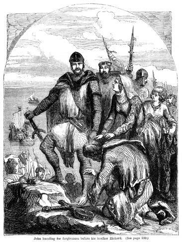 John Kneeling for Forgiveness before His Brother Richard Giclee Print
