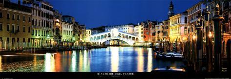 Rialto Bridge, Venice Art Print