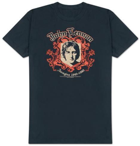 John Lennon - Crest - B Side Reverse Tee Camiseta