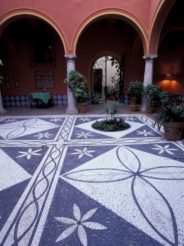 Courtyard of Parador, Luxury Hotel, Arcos de la Frontera, Spain Photographic Print