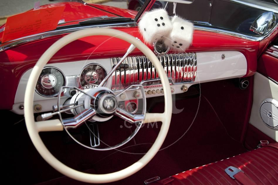 Dashboard At Classic Car Show Kirkland Washington USA - Classic car show washington