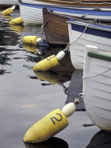 Mooring Buoys at the Center for Wooden Boats, Seattle, Washington, USA Valokuvavedos