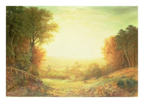 On Hampstead Heath in 1862 or When the Sun in Splendour Fades, 1862 Giclee Print