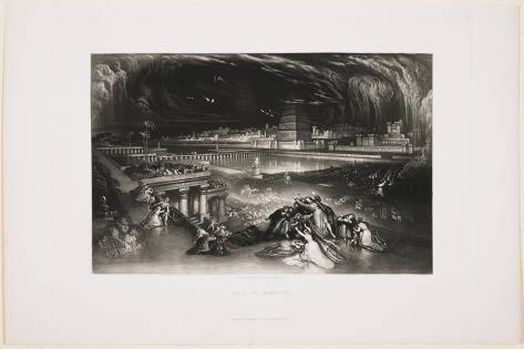 Fall of Babylon, 1826 Lámina giclée