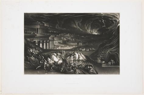 Fall of Nineveh, 1826 Lámina giclée