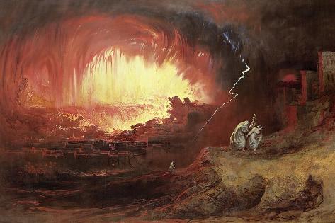 The Destruction of Sodom and Gomorrah, 1852 Lámina giclée