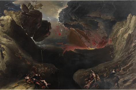 The Great Day of His Wrath, C.1851-53 Lámina giclée