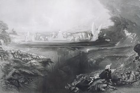 The Last Judgement, Engraved by Charles Mottram (1807-76) Pub. by Thomas Mclean, 1856 Lámina giclée