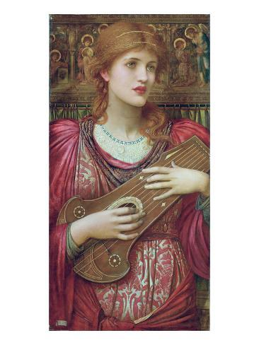The Music Faintly Falling, Dies Away / Thy Dear Eyes Dream That Love Will Live for Aye, 1893 Lámina giclée